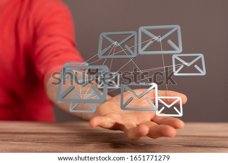 email icons in work space 3d #1651771279