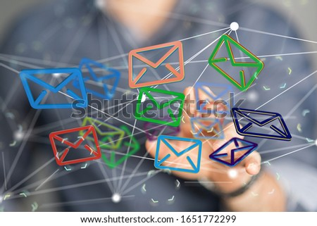 email icons in work space 3d #1651772299