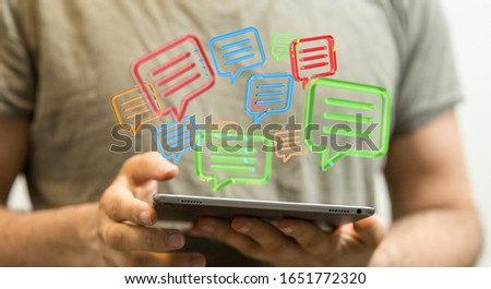 email icons in work space 3d #1651772320