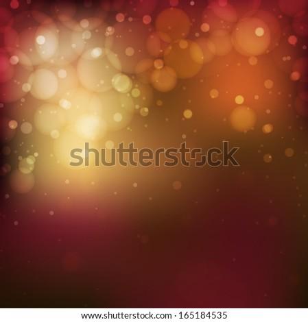Shimmering multi-colored lights on a dark background. #165184535