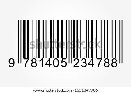 Realistic barcode icon. Barcode logo. Vector illustration.