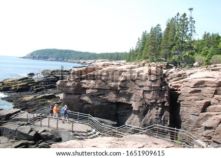 Pics of Maine coast including Acadia National Park, lighthouse pics, signs, landscapes, plants and my Subaru Forester.