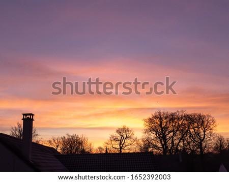 beautiful sunrise in winter season #1652392003