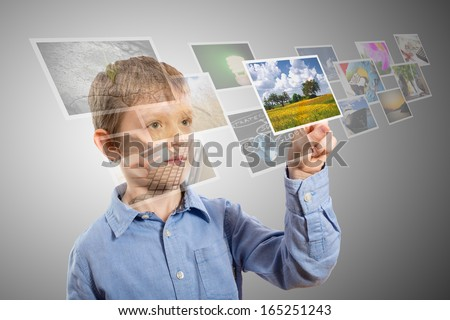 hand reaching images streaming from the deep  #165251243
