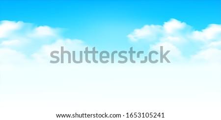Sky clouds landscape light background