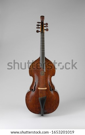 German Chordophone-Bowed Bass Viola da Gamba, Musical Instruments #1653201019
