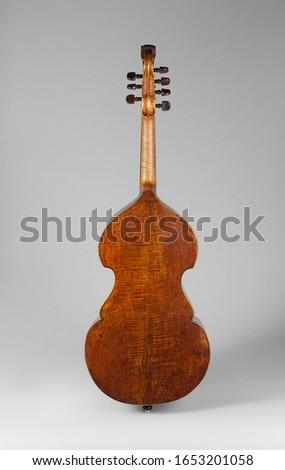 German Chordophone-Bowed Bass Viola da Gamba, Musical Instruments #1653201058
