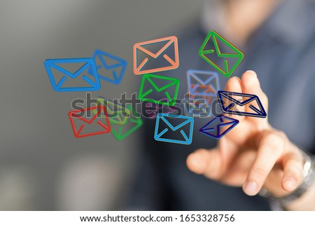email icons in work space 3d #1653328756