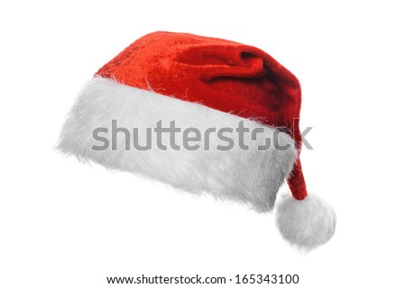 Red santa hat, isolated on white #165343100