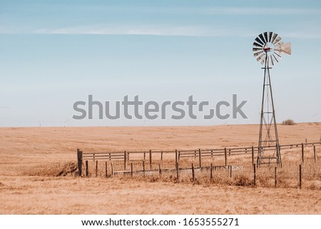 Windmill on the plains of Colorado. #1653555271