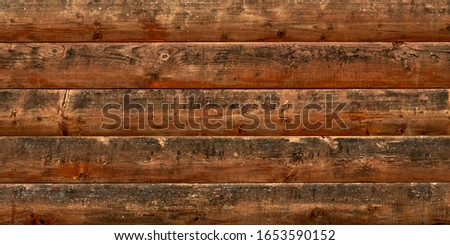 Old wood texture, wooden floor background. Timber fence, desk surface. Natural grunge boards, brown weathered table. #1653590152