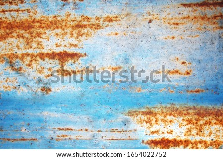 Surface rust on the surface, blue #1654022752