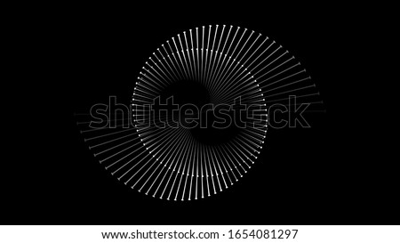 Spiral sound wave rhythm line dynamic abstract vector background #1654081297