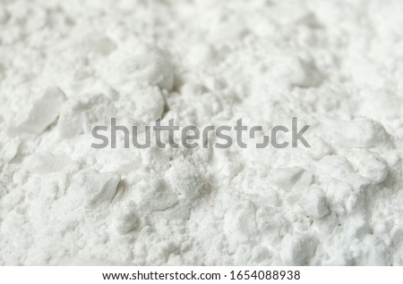 Powder starch powder texture. Starch powder close-up. Tapioca powder texture. #1654088938