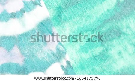 Dye Texture. Abstract Dirty Art Banner.  Trandy  Gouache Pattern. Teal Design.  Green Print. Mint Vintage Poster. Dye Texture Background. #1654175998