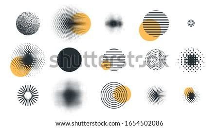 vector illustration. set of different circle geometry design. circle of different shapes for design creative Royalty-Free Stock Photo #1654502086