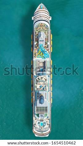 Aerial view if a cruiseship