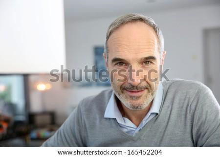 Portrait of handsome mature man #165452204