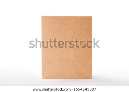 Close up of a Brown box on white background with clipping path #1654543387