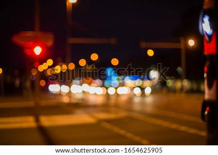 Bokeh photography in urban environment, beautiful bokeh, street lights, car lights, traffic lights, out of focus