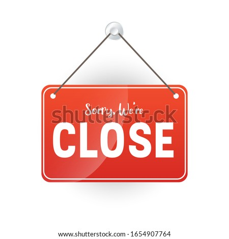 close sign for store template #1654907764