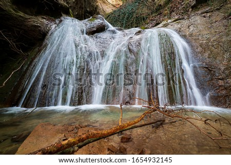 Val Tassaro Waterfall Italy Emilia Romagna