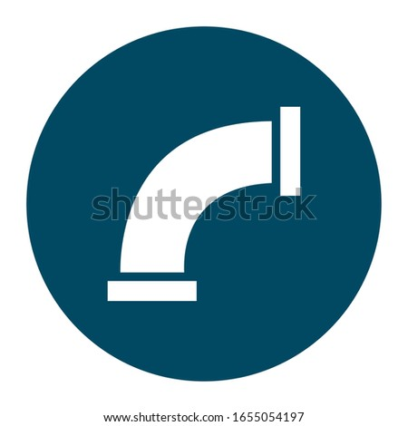 pipe block and flat style icon design, Oil industry Gas energy fuel technology power industrial production and petroleum theme Vector illustration #1655054197