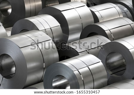 amount of steel coils in warehouse, heavy industries #1655310457