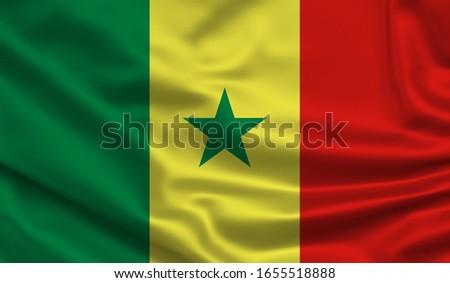 Waving world flags. Silk, satin texture. 3d Illustration. #1655518888