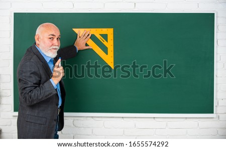 Knowledge concept. Investigation and research. How succeed in math. Drawing tips. Become lifelong learners. Man bearded tutor chalkboard background. Mature lecturer share knowledge. Stem knowledge. #1655574292