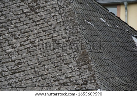 roof with vintage slates and windows #1655609590
