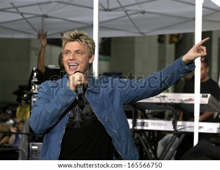 Nick Carter on stage for NBC Today Show Concert Series with the BACKSTREET BOYS, Rockefeller Center, New York, NY, June 10, 2005  #165566750