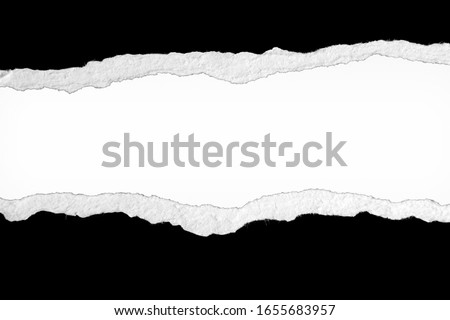 Ripped paper on plain background, space for copy #1655683957