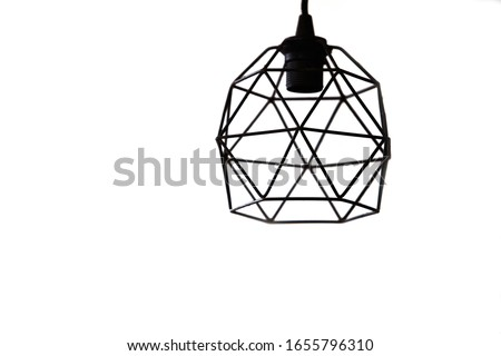 modern pendant light with vintage light bulb. Royalty-Free Stock Photo #1655796310