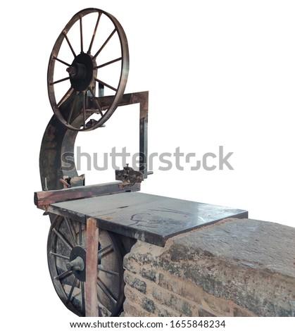 Khulna, Bangladesh/ 14 February 2020: Live Working On Ara Machine Woodcutter machine, Woodcutter saw machine, Ara Machine #1655848234