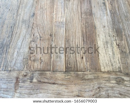 Old weathered recycled wood table #1656079003