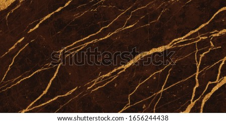 brown marble with golden veins. brown golden natural texture of marble. abstract brown,  gold and yellow marbel. hi gloss texture of marble stone for digital wall tiles design.  #1656244438