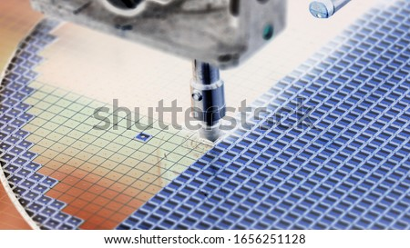 Silicon wafer negative color in machine in semiconductor manufacturing           #1656251128