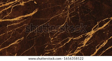 brown marble with golden veins. brown golden natural texture of marble. abstract brown,  gold and yellow marbel. hi gloss texture of marble stone for digital wall tiles design.  #1656358522