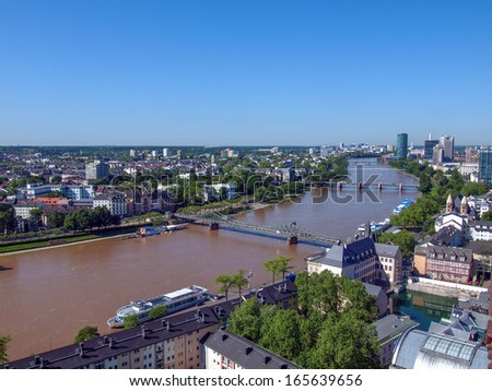Aerial view of Frankfurt am Main in Germany #165639656