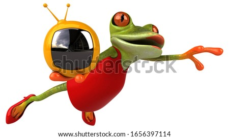 Fun frog - 3D Illustration #1656397114