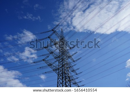 Power lines for power distribution #1656410554