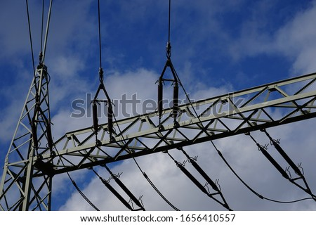Power lines for power distribution #1656410557