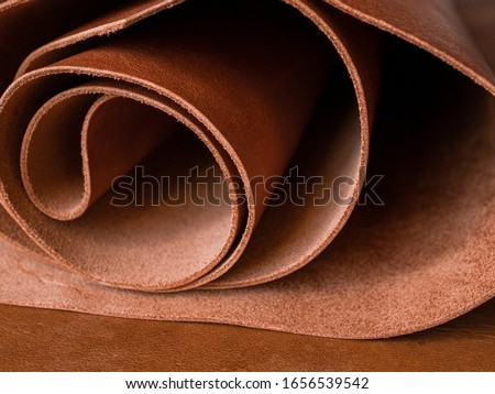 Genuine Leather. Sewing a purse. Leather work. Tools for sewing bags, wallets, clutches. Stitching. Manual sewing of the product. The manufacture of leather products.  #1656539542