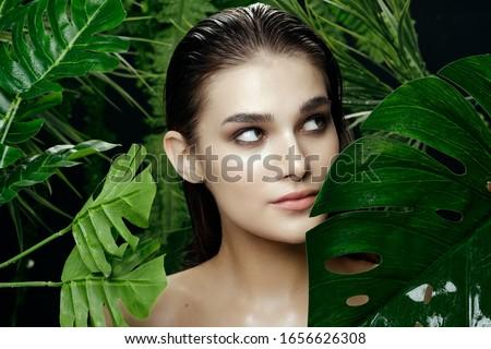 Cheerful woman charm cosmetics clean skin exotic spa treatments #1656626308