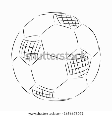 One continuous single drawing line art flat doodle line, people, play, goal, one, game, ball. Isolated image hand draw contour on a white background