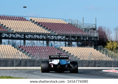 Kevin Magnussen, Norway competes for  Haas F1 Team at the F1 Winter Testing for the 2020 season at the Circuit de Barcelona-Catalunya, Spain #1656776080