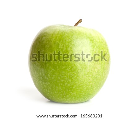 picture ripe apples isolated on a white background. Studio.