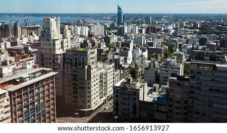 View of Montevideo city, capital of Uruguay near La Plata Bay (San Felipe y Santiago de Montevideo). Montevideo, Uruguay #1656913927