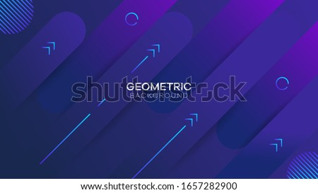 Minimal geometric background. Dynamic shapes composition. Eps10 vector. #1657282900
